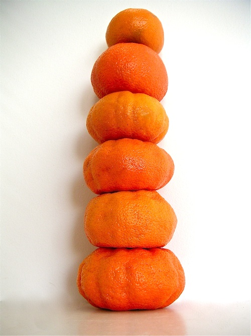 Stack of mandarines